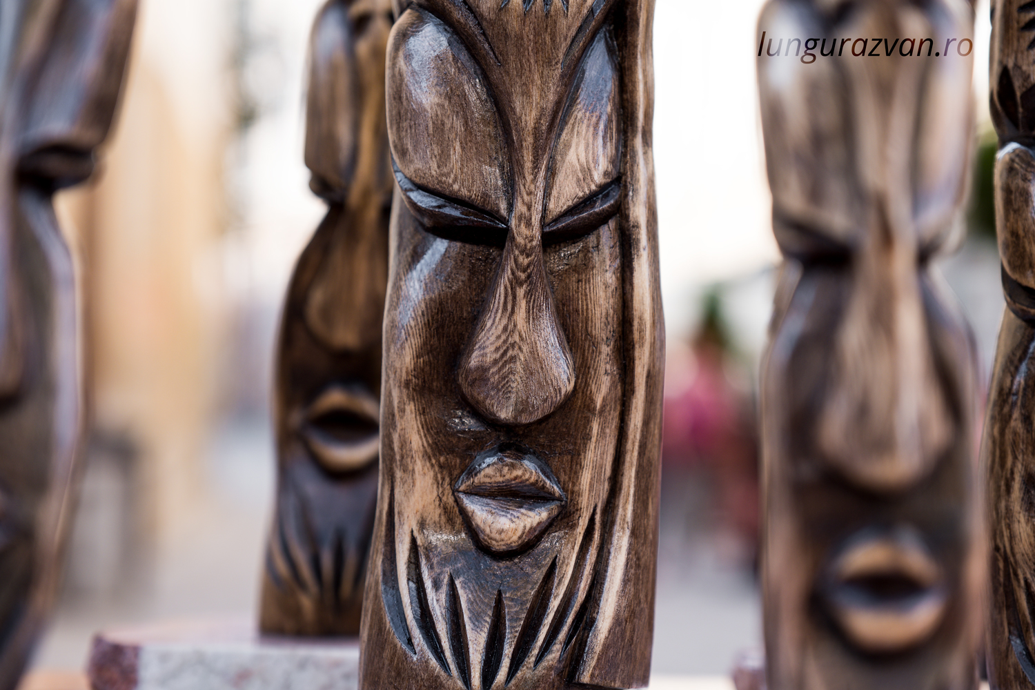 Looking Into One's Soul. A totem sculpted from raw pine wood root.