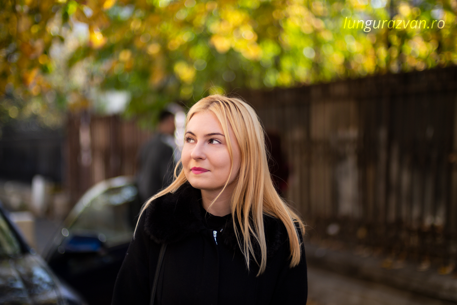Beautiful Young Blonde Smiling for Voigtlander