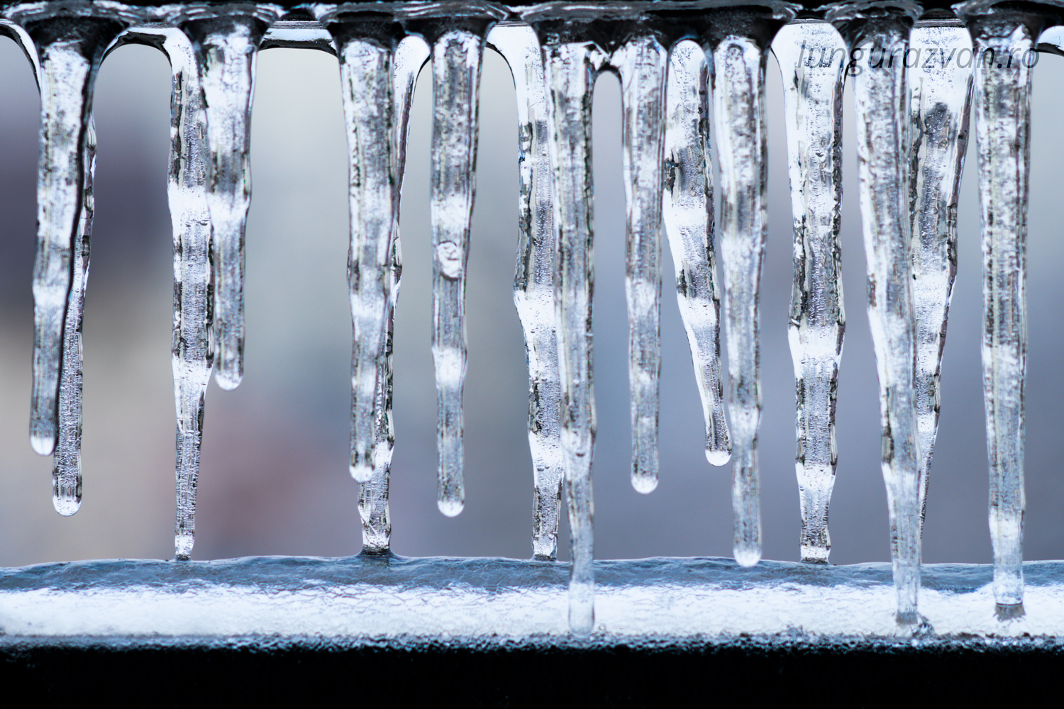 Cold Icicles on the Balcony