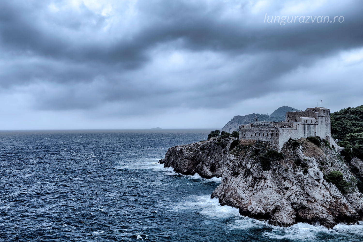 A Storm is Comming over Fort Lovrijenac